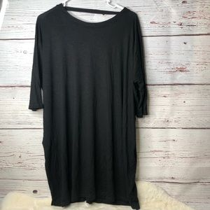Anthropologie Black Loose Fit Dress XS